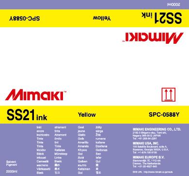 Mimaki Чернила Mimaki SS21 Solvent Bulk Yellow