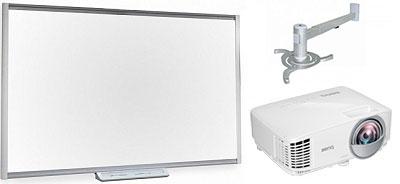 SMART SBM685 в комплекте с проектором BenQ MW809ST и креплением Classic Solution CS-PRB-5/125W