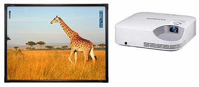 ActivBoard Touch 78 в комплекте с проектором Casio XJ-V2