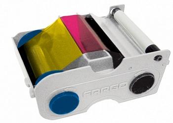 Картридж с лентой и чистящим валиком полноцветная лента Fargo YMCKO 45100
