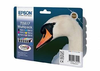 Набор цветных картриджей Epson T0817 (C13T11174A10)