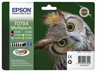 Набор цветных картриджей Epson T079A (C13T079A4A10)
