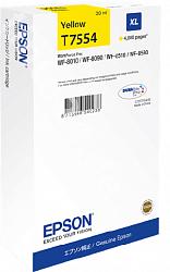 Картридж повышенной емкости с желтыми чернилами Epson T7554 для WF-8090, 8590 (C13T755440)