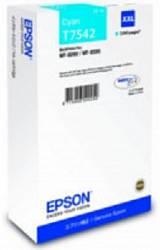 Картридж экстраповышенной емкости с голубыми чернилами Epson T7542 для WF-8090, 8590 (C13T754240)