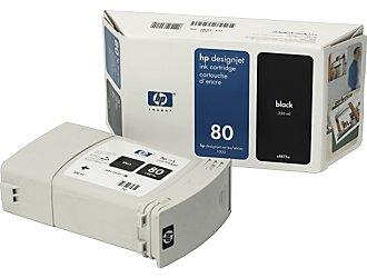 HP DesignJet 80 Black 350 мл (C4871A)