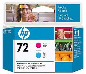 HP Print Head №72 Magenta & Cyan  (C9383A)