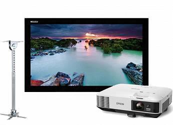 Lumien Cinema Home 141x238 MW в комплекте с проектором Epson EB-1975W и креплением Wize WPC-W